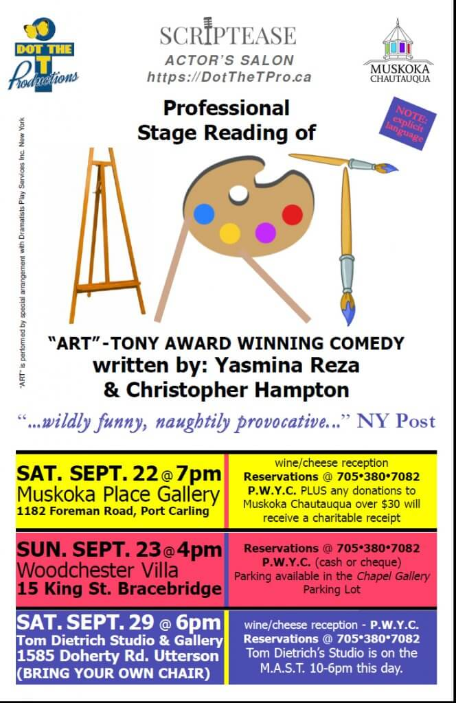 ART - A Page to Stage Play Script Reading • Muskoka Lakes Chamber of
