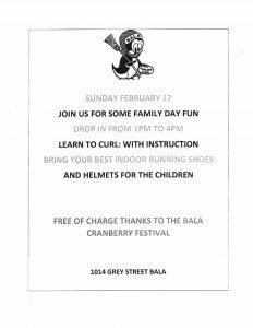 Family Fun Day - Bala Curling Club