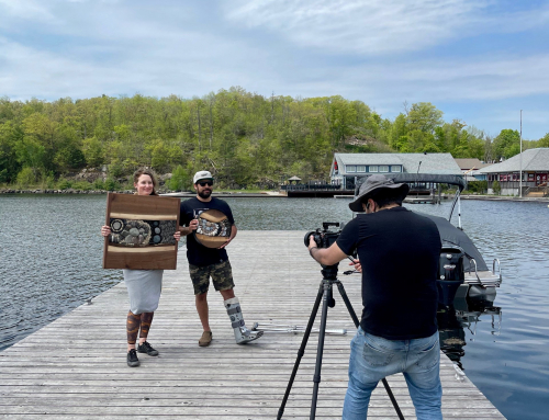 Chamber films commercial with CTV for Shop Muskoka Lakes shop local launch